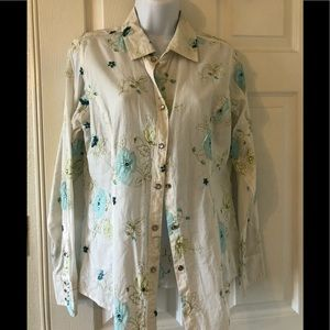 Cowboy blouse embroidered